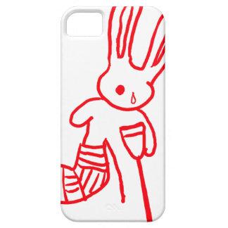 """""""ウサギ/バニー""""のおもしろいなiPhone 5の場合傷つけました iPhone SE/5/5s ケース"""