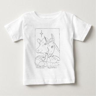 ウシおよびろばとの出生 ベビーTシャツ