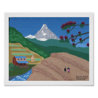 ウシと耕します、ネパール ポスター