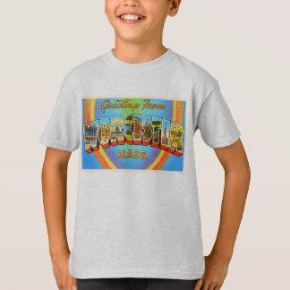 ウスターマサチューセッツMAのヴィンテージ旅行記念品 Tシャツ