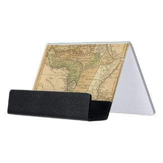 ウスター著アフリカの地図 デスク名刺ホルダー