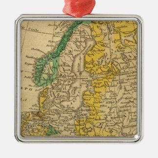 ウスター著ヨーロッパの地図 メタルオーナメント