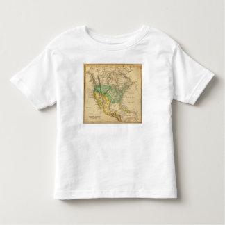 ウスター著北アメリカの地図 トドラーTシャツ