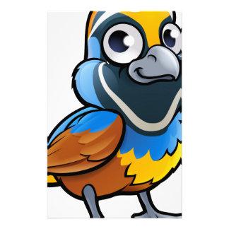 ウズラの鳥のマンガのキャラクタ 便箋