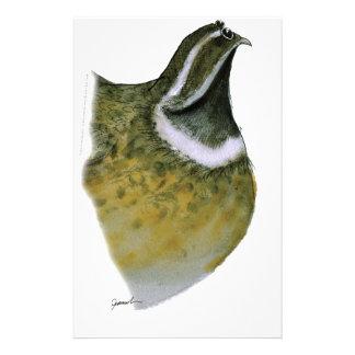 ウズラの鳥、贅沢なfernandes 便箋