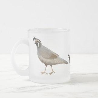 ウズラ家族の曇らされたガラスのマグ フロストグラスマグカップ