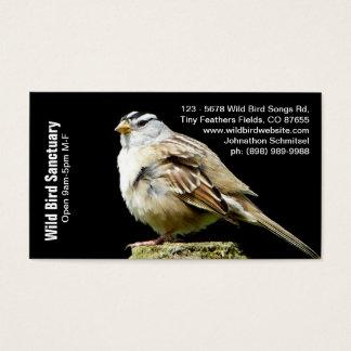 ウタスズメの写真の鳥ビジネス 名刺