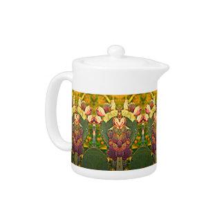 ウチワサボテンサボテンの茶ポット