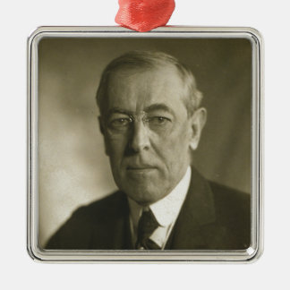ウッドロウ・ウィルソン大統領のポートレート1919年 メタルオーナメント