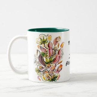 ウツボカズラの熱帯嚢状葉植物2の調子のマグ ツートーンマグカップ