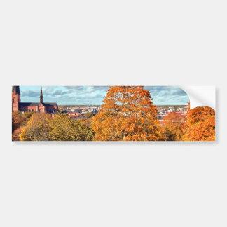 ウプサラスウェーデンの秋の景色の写真 バンパーステッカー