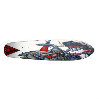 ウマ科のな武士の歯科-落書きSk8のデッキ 18.1cm オールドスクールスケートボードデッキ
