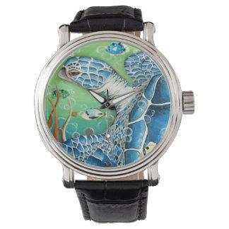 ウミガメおよび魚の腕時計 腕時計