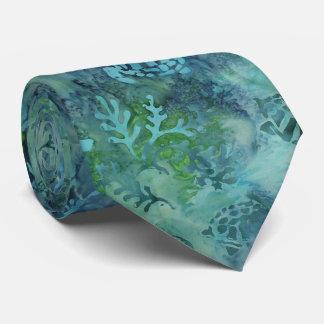 ウミガメのろうけつ染め オリジナルネクタイ