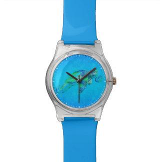 ウミガメのグラフィック 腕時計