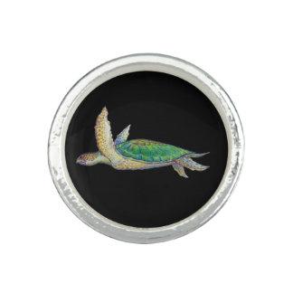 ウミガメのリングや輪 指輪