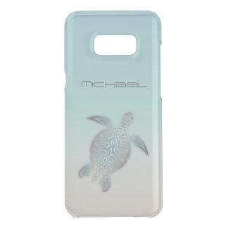 ウミガメの動物の銀のゆとりのモノグラム ケース