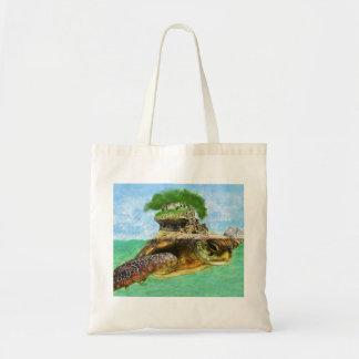 ウミガメの島のバッグ トートバッグ