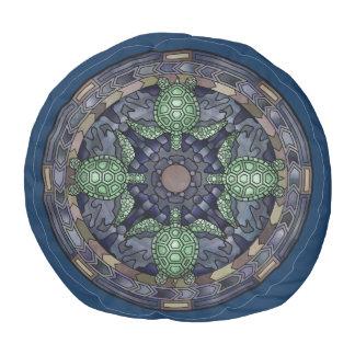 ウミガメの曼荼羅の円パターン絵の芸術 プーフ