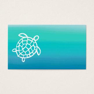 ウミガメの海の水彩画の名刺 名刺