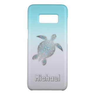 ウミガメの銀製のモノグラム動物 Case-Mate SAMSUNG GALAXY S8ケース
