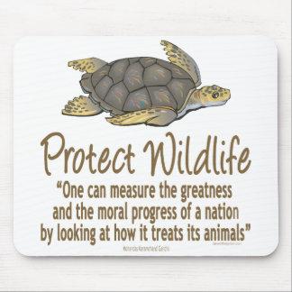 ウミガメを保護して下さい マウスパッド