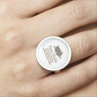 ウミガメを保護して下さい 指輪