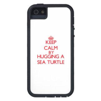 ウミガメを抱き締めることによって平静を保って下さい iPhone SE/5/5s ケース