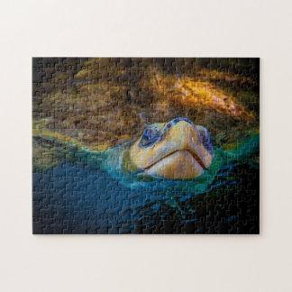 ウミガメ04のデジタル芸術-写真のパズル ジグソーパズル