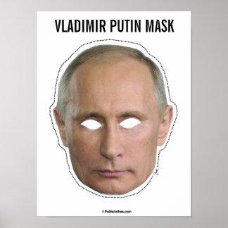 ウラジーミル・プーチンのマスクの切り出し ポスター