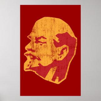 ウラジーミル・レーニンのcccpのポートレート ポスター