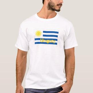 ウルグアイのウルグアイの旗の記念品のTシャツ Tシャツ
