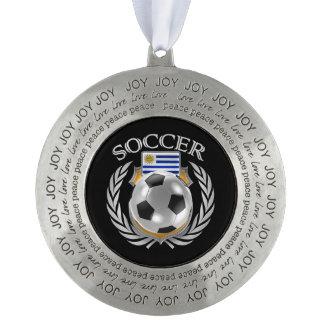 ウルグアイのサッカー2016ファンのギア オーナメント