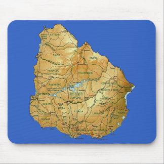 ウルグアイの地図のマウスパッド マウスパッド