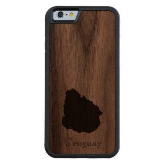 ウルグアイの地図: クラシックなデザイン CarvedウォルナッツiPhone 6バンパーケース