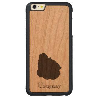 ウルグアイの地図 CarvedチェリーiPhone 6 PLUSバンパーケース