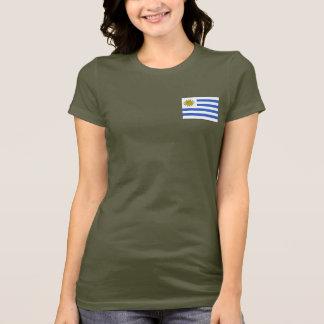 ウルグアイの旗および地図dkのTシャツ Tシャツ