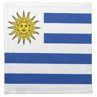 ウルグアイの旗のナプキン ナプキンクロス