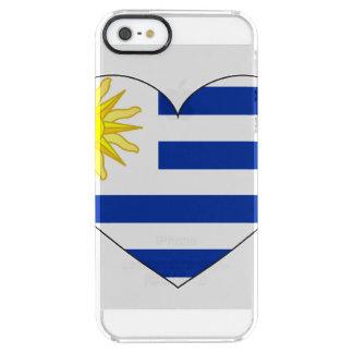 ウルグアイの旗のハート クリア iPhone SE/5/5sケース