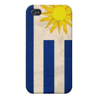 ウルグアイの旗の動揺してで堅い貝の電話箱 iPhone 4/4S カバー