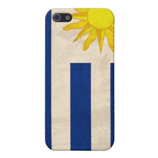 ウルグアイの旗の動揺してで堅い貝の電話箱 iPhone 5 COVER