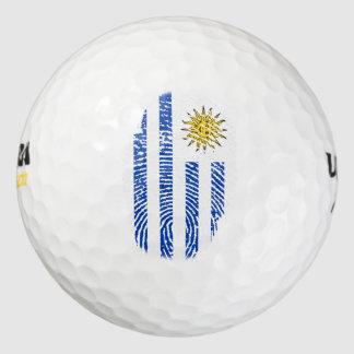 ウルグアイのtouchの指紋の旗 ゴルフボール