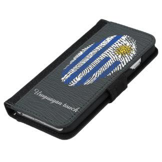 ウルグアイのtouchの指紋の旗 iPhone 6/6s ウォレットケース