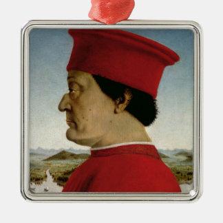 ウルビノ、c.1465のFederigo da Montefeltro公爵 メタルオーナメント