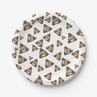 ウンチのEmojiおもしろいでかわいいパターン ペーパープレート