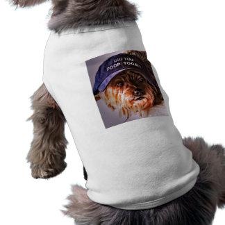 ウンチ今日か。 小犬のTシャツ ペット服