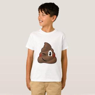 ウンチEmojiのまばたき Tシャツ