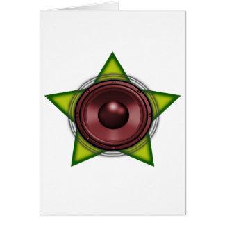 ウーファーのラスタの星のダビングのレゲエDubstep カード
