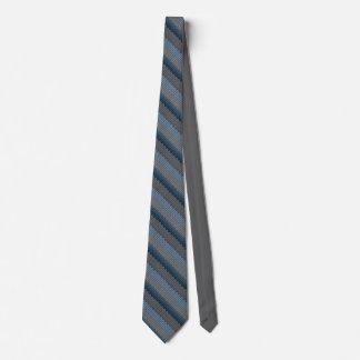 ウールのタイは青いウールの編み物のネクタイを印刷しました オリジナルネクタイ