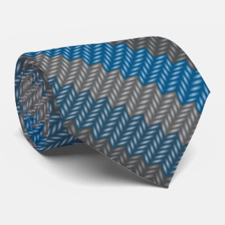 ウールのタイは青いウールの編み物のネクタイを印刷しました カスタムネクタイ